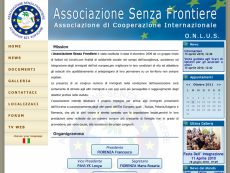 Homepage dell'Associazione Senza Frontiere
